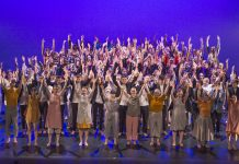 All the dancers who took part in Destinations 2020 stood on stage